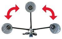 電装部の傾斜可能範囲
